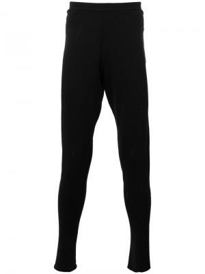 Зауженные спортивные брюки Label Under Construction. Цвет: чёрный