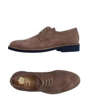 Обувь на шнурках VIA DEI CALZAIUOLI. Цвет: голубиный серый