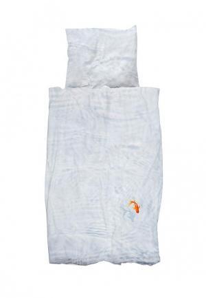 Комплект постельного белья 1,5-спальный Snurk. Цвет: голубой