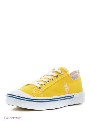 Кеды U.S. Polo Assn.. Цвет: желтый