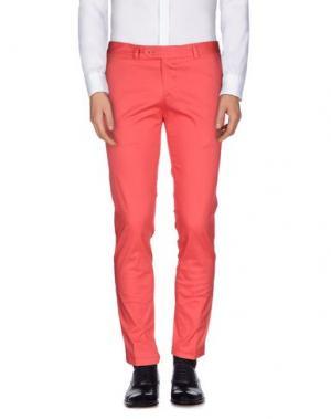 Повседневные брюки ROBERTO PEPE. Цвет: коралловый