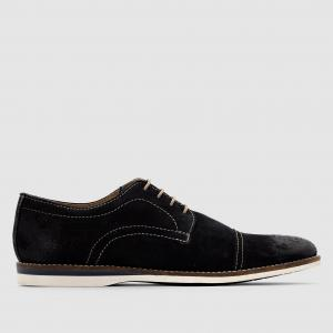 Ботинки-дерби кожаные на шнуровке Concoct BASE LONDON. Цвет: серо-коричневый,темно-синий