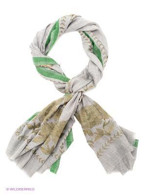 Палантин Venera. Цвет: серый, золотистый, зеленый