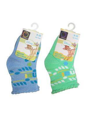 Носки 2 пары Master Socks. Цвет: голубой, зеленый