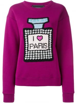 Джемпер I love Paris Michaela Buerger. Цвет: розовый и фиолетовый