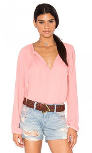 Крестьянская рубаха WAYF. Цвет: розовый