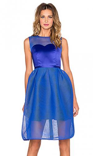 Мини платье с корсетом bablon Bronx and Banco. Цвет: синий