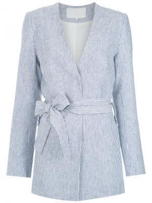 Striped blazer Giuliana Romanno. Цвет: синий