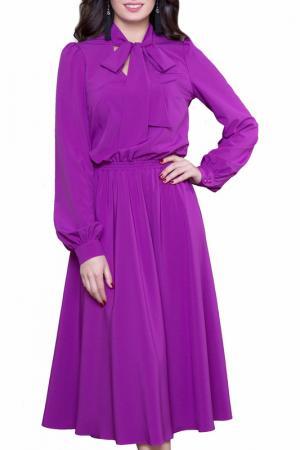 Платье Olivegrey. Цвет: насыщенно-сиреневый