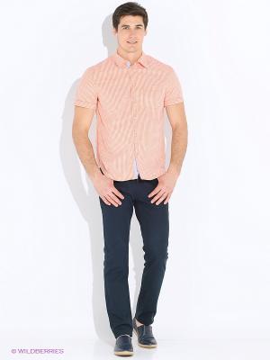 Рубашка INCITY. Цвет: персиковый