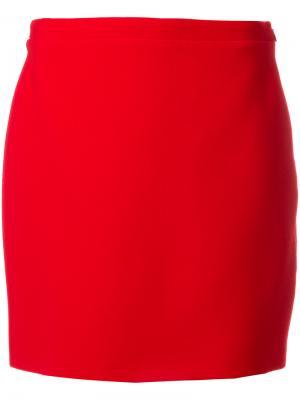 Прямая юбка Alessandra Rich. Цвет: красный
