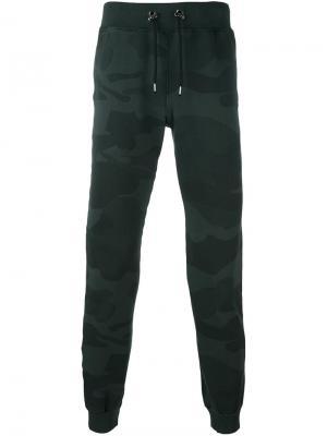 Камуфляжные спортивные брюки Hydrogen. Цвет: чёрный