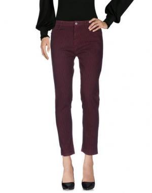 Повседневные брюки SOEUR. Цвет: красно-коричневый
