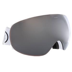 Маска для сноуборда  Eg3.5 Gloss White+Black/Brose/Silver Electric. Цвет: белый