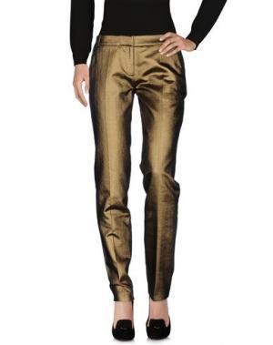 Повседневные брюки MATTHEW WILLIAMSON. Цвет: бронзовый