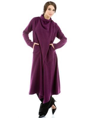 Пальто Levall. Цвет: лиловый