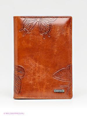 Обложка для паспорта Malgrado. Цвет: коричневый