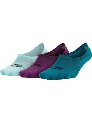 Носки U NSW 3PPK FOOTIE Nike. Цвет: бирюзовый, морская волна, фиолетовый