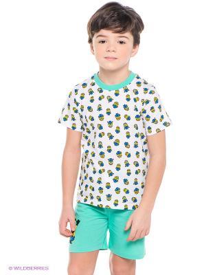Пижама Миньоны Despicable Me, Minion Made. Цвет: светло-зеленый, белый, синий