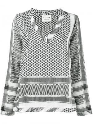Рубашка с узором в арабском стиле Cecilie Copenhagen. Цвет: чёрный