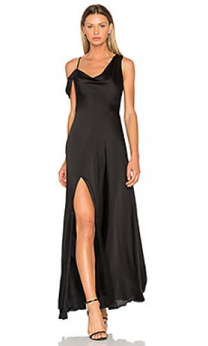 Вечернее платье с открытым плечом JILL STUART. Цвет: черный