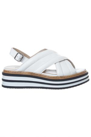 Sandals Loretta Pettinari. Цвет: white