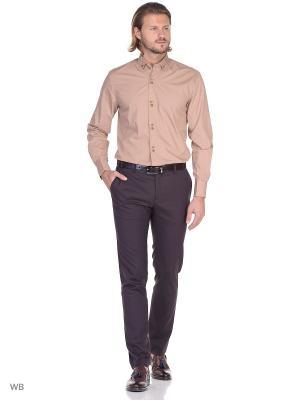 Рубашка мужская манжет под запонки WHITE CUFF. Цвет: светло-коричневый