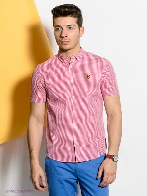 Рубашка Lyle&Scott. Цвет: розовый, белый