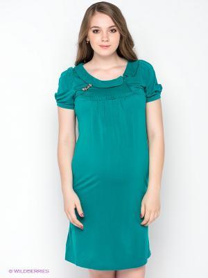 Платье Gemko. Цвет: морская волна