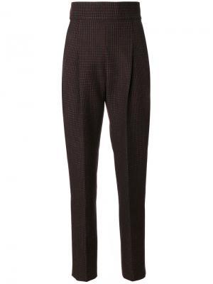Клетчатые брюки с высокой талией Philosophy Di Lorenzo Serafini. Цвет: чёрный