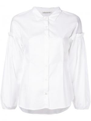 Рубашка с рукавами-фонариками Stefano Mortari. Цвет: белый