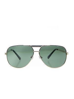 Солнцезащитные очки Infiniti. Цвет: золотистый, зеленый