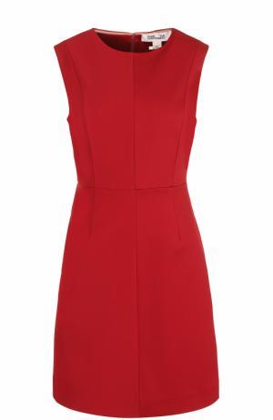 Приталенное мини-платье без рукавов Diane Von Furstenberg. Цвет: красный