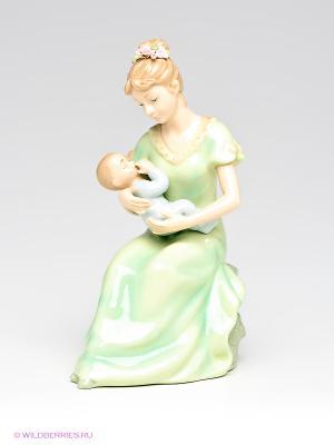 Музыкальная статуэтка Мама с ребенком Pavone. Цвет: зеленый, бежевый