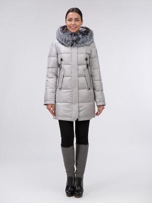 Пальто OSTRICH. Цвет: серебристый