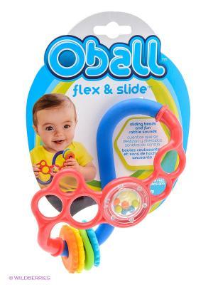 Развивающая игрушка Веселые завитки Oball. Цвет: розовый