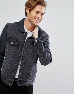 LDN DNM Черная джинсовая куртка. Цвет: черный