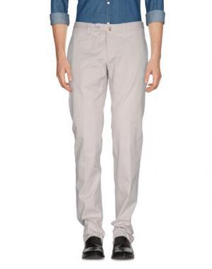 Повседневные брюки DAKS LONDON. Цвет: светло-серый