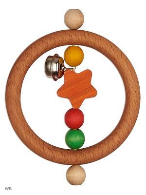 Погремушка Звездочка с бубенчиком S-MALA. Цвет: оранжевый