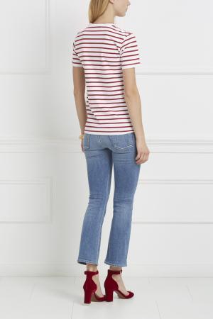 Хлопковая футболка Etre Cecile. Цвет: красный, черный, белый