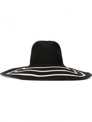 Широкополая шляпа Filù Hats. Цвет: чёрный
