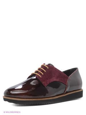 Ботинки Tucino. Цвет: бордовый