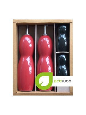 Емкости для специй Ecowoo. Цвет: красный