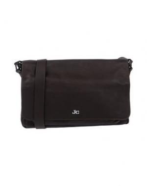 Сумка через плечо J&C JACKYCELINE. Цвет: темно-коричневый