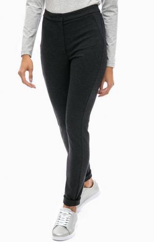 Зауженные брюки из трикотажа olsen. Цвет: серый