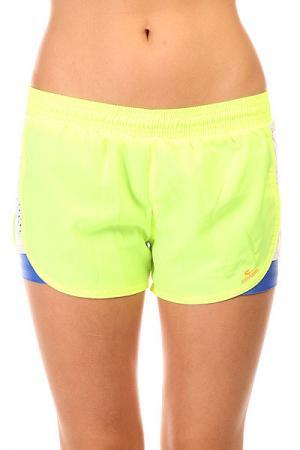 Шорты пляжные женские  Tafetб Shorts Yellow CajuBrasil. Цвет: желтый,белый,синий
