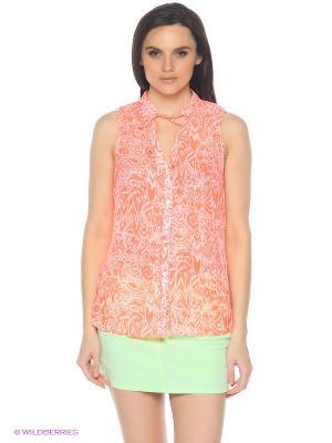 Блузка Colin's. Цвет: коралловый