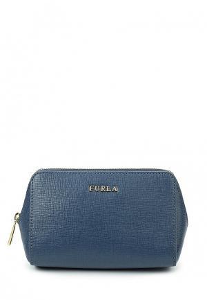 Косметичка Furla. Цвет: синий