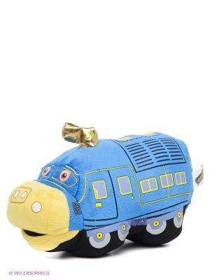 Мягкая игрушка Паровозик Брюстер Мульти-пульти. Цвет: синий, желтый