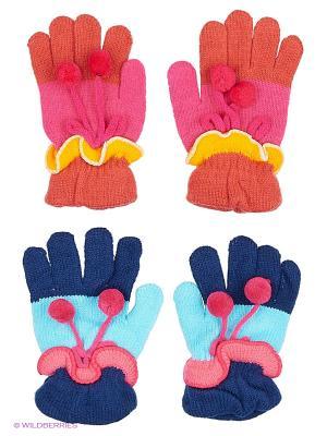 Перчатки FOMAS. Цвет: фуксия, розовый, голубой